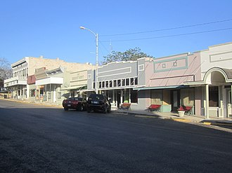Sonora, Texas - A glimpse of the eastern side of downtown Sonora