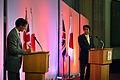 Dr Robin Niblett and Shinzo Abe (9090169675).jpg