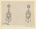 Drawing, Design for two earrings, 1860–80 (CH 18561909).jpg