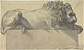 Drawing after a Lithograph of a Recumbent Lion. MET DP808207.jpg