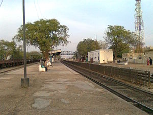 Drigh Road railway station - A view of Drigh Road railway station