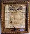 Ducale (licenza) del capitano filip ivanovic per la nave diana e s. antonio, emesso da ludovico manin nel 1795.JPG