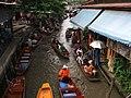 Dumnoen Saduak-Floating market - Plovoucí trh Dumnoen Saduak - panoramio - Thajsko (2).jpg