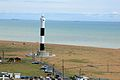 Dungeness Lighthouse - Dungeness headland - Coast of Kent, England - 21 April 2012.jpg