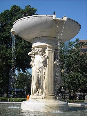 The fountain at Dupont Circle in Washington, D.C.