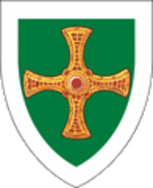 St Cuthbert's coffin - Representation of the pectoral cross from the coffin, used as an emblem.