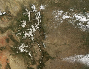 Snowmelt - Image: Dust Accelerates Snow Melt in San Juan Mountains May 31, 2008