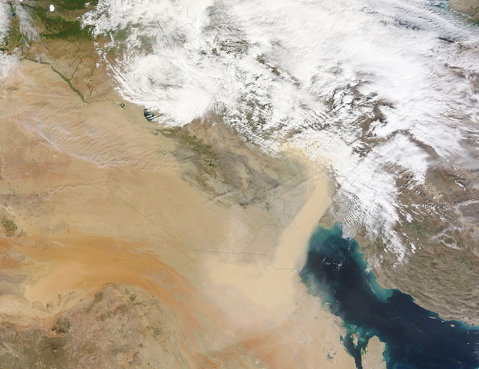 Dust Extends from Saudi Arabia to Iran