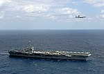 E-3A Airborne Warning and Control System aircraft flying over USS George Washington (CVN-73) 080303-N-9565D-015.jpg