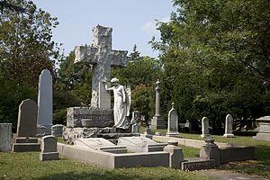 Grove Street Cemetery - Gravemarker of E. H. Trowbridge and Grace Allen Quincy Trowbridge