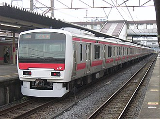 E331 series - E331 series set AK1 in service on the Keiyo Line in May 2010