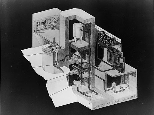EBR-I - Cutaway view of the power plant