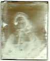 Early ambrotype, restoration step 2 (front, seen as negative) (6089855269).jpg