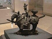 Earthenware Funerary Objects in the Shape of a Warrior on Horseback 도기 기마인물형 명기 07