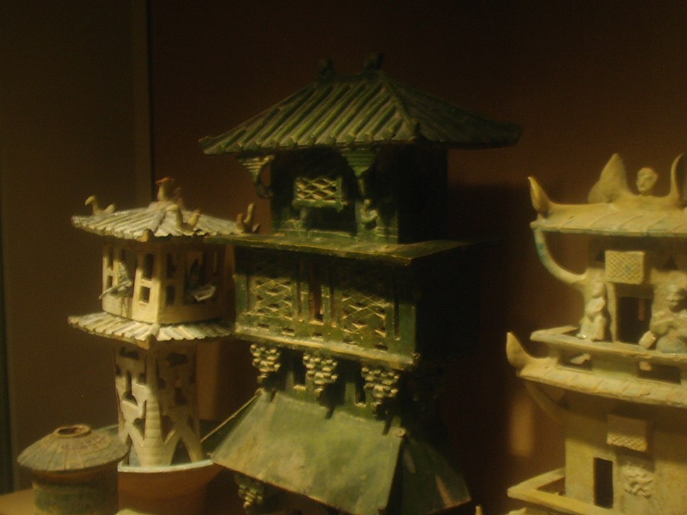 Earthenware architecture models, Eastern Han Dynasty, 12