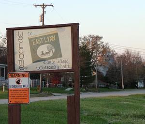 East Lynn, Illinois - East Lynn welcome sign