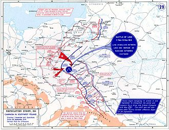 Battle of Łódź (1914) - Eastern Front, September 28 – November 1, 1914