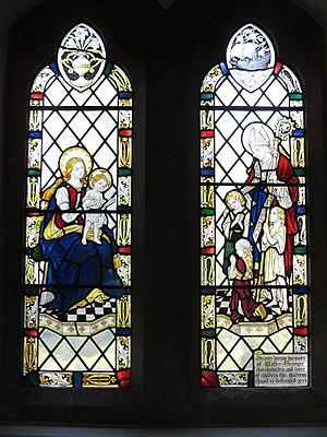 Frederick Charles Eden - Window in the north transept of St Peter's Church, Henfield, designed by Eden
