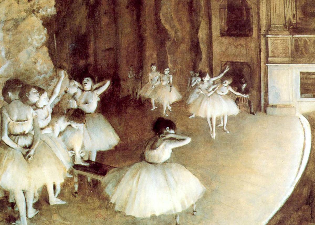 Fail Edgar Degas Rehearsal On Stage Jpg Wikipedia Bahasa Melayu Ensiklopedia Bebas