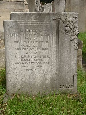 Edward Merewether - Funerary monument, Brompton Cemetery, London