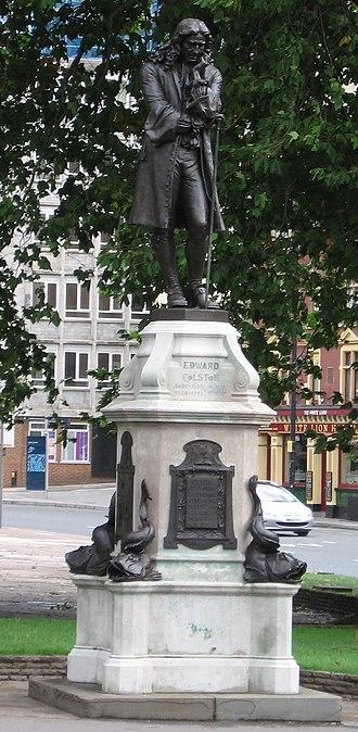 Edward Colston - Statue of Edward Colston in Bristol city centre