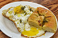 Eggs with focaccia (15630495141).jpg