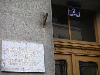 Egon Friedell - Friedell's home 1900-1938 in Gentzgasse 7, Währing, Vienna