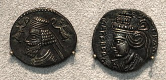 Ecbatana - Ekbatana (forse), phraakates e musa, dracma, 2 ac-4 dc ca