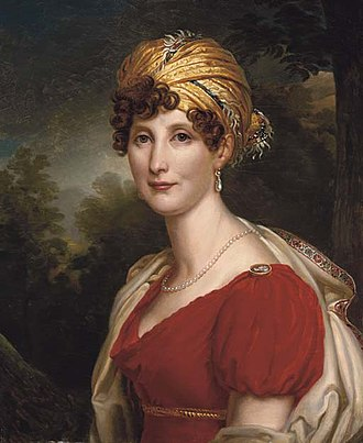 Draped turban - Portrait of Eléonore de Montmorency wearing a turban, c.1810