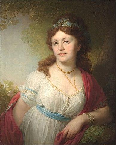 Елизавета Тёмкина. Портрет работы Боровиковского