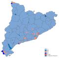 Elecciones catalanas de 2012 - Partido más votado por municipios.png
