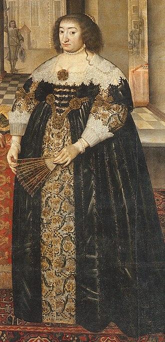 Elizabeth Charlotte of the Palatinate, Electress of Brandenburg - Elizabeth Charlotte of the Palatinate (1597–1660) by their court painter Mathias Czwiczek