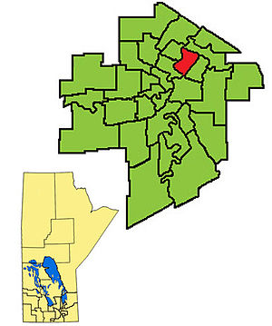 Elmwood (electoral district) - The 2011- boundaries for Elmwood highlighted in red
