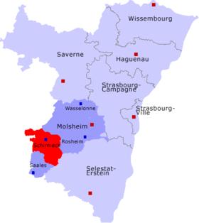 Carte Schirmeck Alsace.Canton De Schirmeck Wikipedia