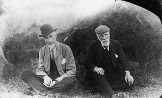 Elsdon Best - Elsdon Best with fellow ethnographer Percy Smith, 1908