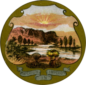 With God, all things are possible - Image: Emblems of USA 1876 Ohio