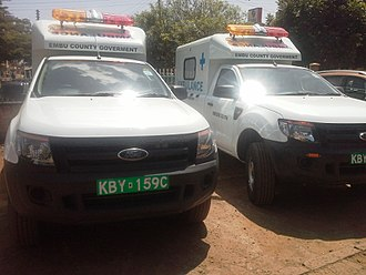 Embu County - Some of Embu County's Ambulances