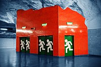 Emergency exit Stockholm metro