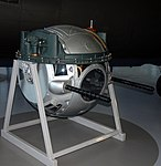Emerson Type A-2A-1 Lower Ball Turret, The American Air Museum, Imperial War Museum, Duxford. (31033534315).jpg
