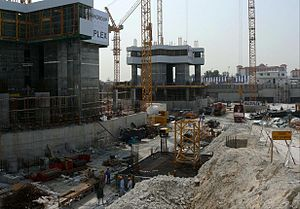 JW Marriott Marquis Dubai - Image: Emirates Park Towers Under Construction on 31 January 2008