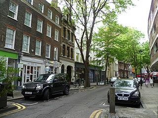 Endell Street street in London, UK