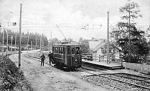 Holmenkollen Line - Engerjordet was used between 1905 and 1935