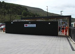 Entrance to Ebbw Vale Town railway station - geograph.org.uk - 4479346.jpg