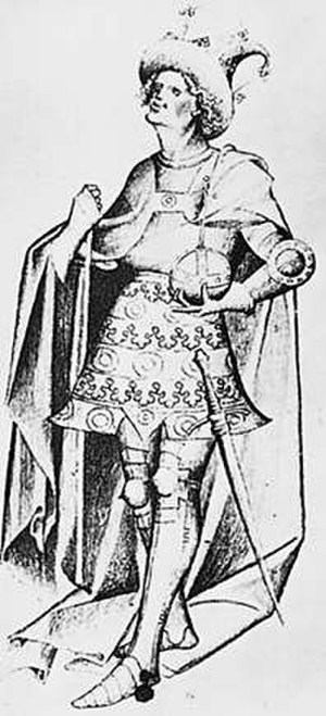 Eric of Pomerania - A contemporary depiction of the king