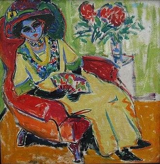 Ernst Ludwig Kirchner - Image: Ernst Ludwig Kirchner Sitzende Dame (Dodo) 1907 1