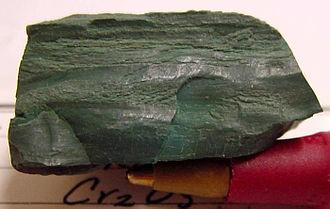 Chromium(III) oxide - Eskolaite mineral