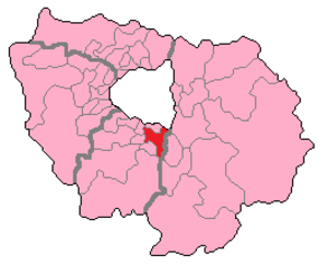 Essonne's 9th constituency - Essonne's 9th Constituency shown within Île-de-France.