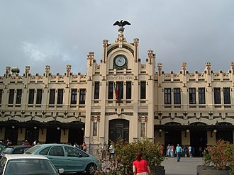 Madrid–Levante high-speed rail network - Facade of Valencia North Station.
