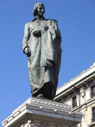 Giuseppe Parini - Monument to Parini in the Piazza Cordusio, Milan (Luca Beltrami)