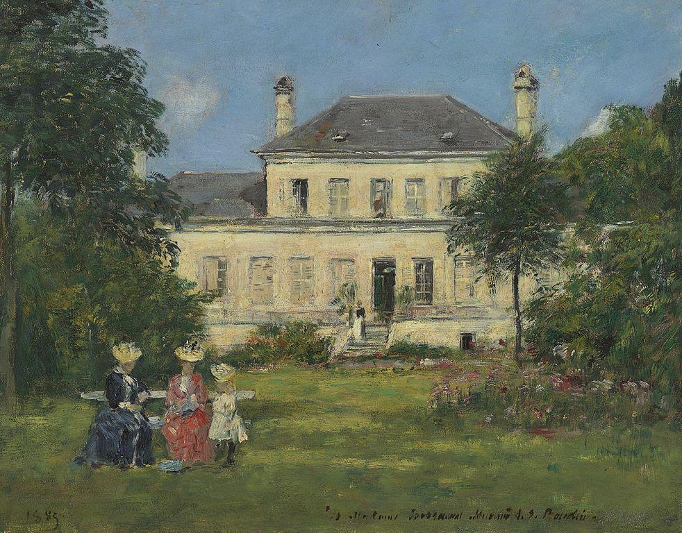 File:Eugène Boudin - Maison et jardin du peintre Braquaval.jpg ...